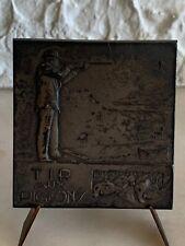 Superbe Médaille /plaque Tir Aux Pigeons Audichon argent Silver Medal