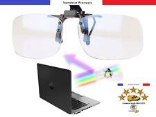 Sur lunettes Clip Anti Lumière Bleue UV 400 Protection Adaptables Universelle FR