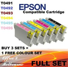 BRAND NEW 6 x Epson Ink Cartridge T0491 0492 496 R310 R350 R230 R210 RX510 RX630