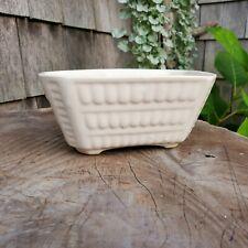 Vintage Ceramic White Planter Pot Rectangular Window Box USA Pottery