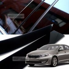 Glossy Black B C Pillar Post UV Coating Cover Trim 6Pcs For KIA 2011-2015 Optima