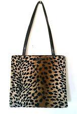 Kate Spade Faux Fur Animal Cheetah Leopard Print Tote Bag  Handbag Shoulder bag