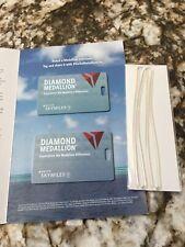 (2) Delta Diamond Medallion 2020 Luggage Tags