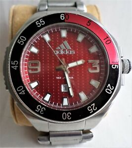 ADIDAS MENS WATCH WITH DATE WATER RESISTANT STAINLESS STEEL