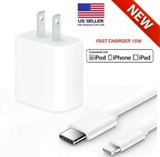 18W Fast Wall Charger USB-C Power Adapter PD Cable Cord For iPhone 11 Pro Max XR