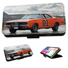 Dukes of Hazard General Lee - Flip Phone Case Wallet Cover Fits Iphone & Samsung
