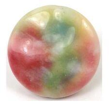 35mm Watermelon Jade Wavy Disc Pendant Bead II