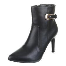 Damen Schuhe Stiefeletten designer Used Boots 1143 Blau Grau 40