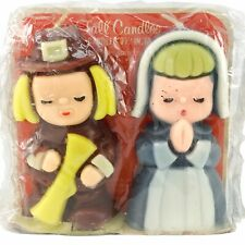 Suni Candles Gurley Thanksgiving Candles Pilgrims Man Woman Fall Candles Vintage
