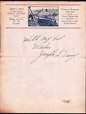 1920 Circus Joseph L Tracy - Collector of Photographs - Buffalo NY - Letter Head