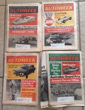4 Vintage 1968 1969  AutoweekCanAM Newspapers Gurney Petty Parsons CanAm Revsons