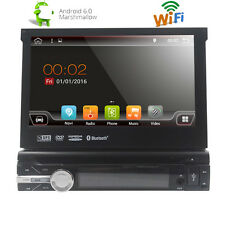 "Single 1 Din 7"" Android 6.0 GPS Flip Car Stereo Radio Player HD WIFI RAM 2G"