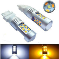 2pcs High Power 3157 Dual-Color Switchback 28-SMD LED Turn Signal Bulbs HS