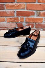 CHURCH'S Northhampton Black Kilted Tassel Mayfair Loafer 9UK 10US Made England