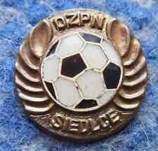 POLAND distr. SIEDLCE FOOTBALL SOCCER FEDERATION 1970's GOLD PIN BADGE