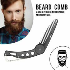 1 Pc Men Women Beauty Handmade Folding Pocket Clip Hair Moustache Beard Comb
