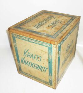 Ancienne XL Boîte Krafts Knäckebrot Allemand Knäckebrotwerke Déco Publicité