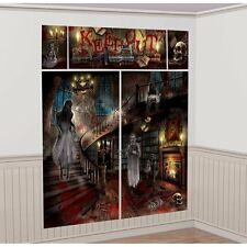 Amscan Haunted Mansion House Halloween Wall Decorating Kit #359854