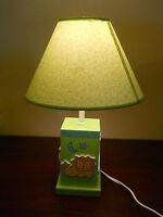 ANIMAL CHILD RESIN NURSERY LIGHT LAMP GREEN BLUE YELLOW