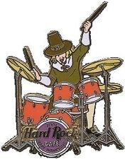 Hard Rock Cafe ONLINE 2001 THANKSGIVING PIN Pilgrim DRUMMER HRO ON-LINE