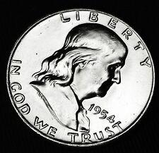 1954-d Franklin Half Dollar.100% Full Bell lines BU (INV.A)