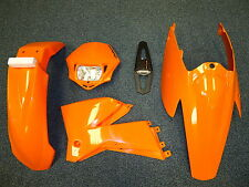 Plastic Kit KTM EXC 125/200/250/400/450/530 05-07 Enduro Orange Plastics Light