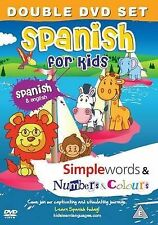 Spanish for Kids DVD Set: Simple Words & Number and Colours: 2011 by my desi guru (DVD, 2011)