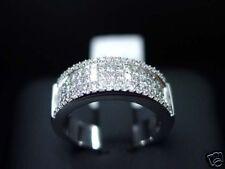 18K WHITE GOLD WOMEN'S DIAMOND RING/BAND PRINCESS CUT
