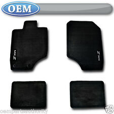 OEM NEW 2011-2012 Lincoln MKZ BLACK Carpet Floor Mats, Charcoal Embroidered Logo