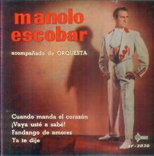 """7"""" Manolo Escobar/cuando manda El Corazòn (Spain-EP)"""