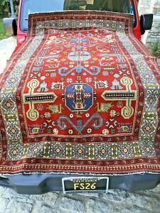 Auth: 1930's Antique Caucasian Rug    Rare Armenian Prepedil    Beauty  5x7   NR