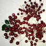 100 Pc Artificial Red Holly Berry Garland Christmas Tree Decor Ornament Xmas DIY