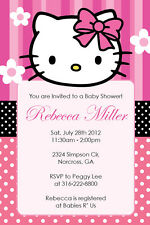 HELLO KITTY GIRL Birthday party or Baby Shower Custom Invitation U Print
