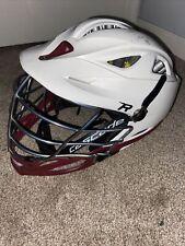 Cascade R Lacrosse Helmet, White, Maroon