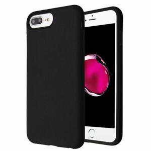 For Apple iPhone 6 Plus/6s Plus/7 Plus/8 Plus Black Hard TPU Hybrid Case Cover