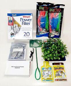 Tetra ColorFusion Glofish 20 Gallon LED Aquarium Fish Tank Kit - Kit Only