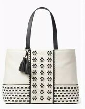 $598.00 Kate Spade bryant court aden tote Large Shoulder Bag Cement & Black BNWT