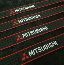 4PCS Black Rubber Car Door Scuff Sill Cover Panel Step Protector For Mitsubishi