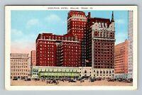 Dallas TX, Historic Adolphus Hotel, Beaus-Arts Style, Linen Texas Postcard