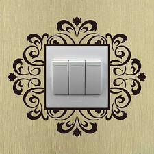 Damask flourish light switch sticker vine flower wall sticker  UK