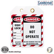 Leaderman Pack 10 Aussperrung / Off Gefahr Sicherheit Etiketten Do Not Betreiben