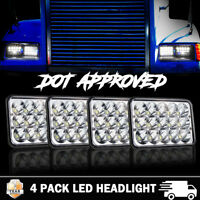 For Freightliner FLD XL Western Star Classic LED Headlights Replacement 4x6""