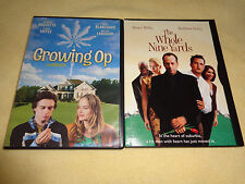 GROWING OP & THE WHOLE NINE YARDS-2 movies-ROSANNA ARQUETTE, BRUCE WILLIS