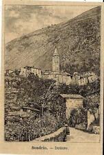 Stampa antica MONTAGNA IN VALTELLINA panorama Sondrio 1891 Old antique print