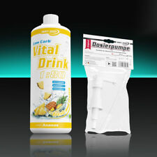 Best Body Nutrition Low Carb Vital Drink 1000 ml Ananas Getränkesirup + Pumpe