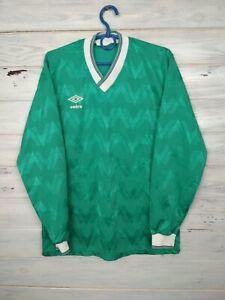 Umbro Jersey Long Sleeve SMALL Shirt Vintage Retro Mens Camiseta Soccer Trikot