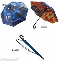 "Doctor Who TARDIS Stick Umbrella Vortex 39"" Official BBC Dr New Mint"