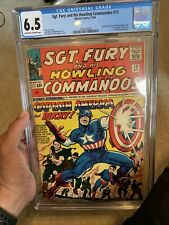 SGT. FURY and HIS HOWLING COMMANDOS #13 (1964) CGC 6.5 Captain America Meeting