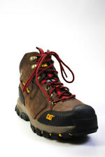 Caterpillar Mens Lace Up Slip Resistant Steel Toe Work Boots Brown Suede Size 10