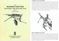 Madsen 1960 circa Saetter Mk4 Sustained Fire Machine Gun Brochure- English